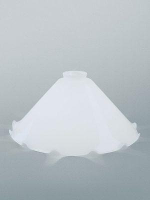 Glasschirm weiss glänzend