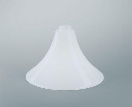 Glasschirm weiß glänzend