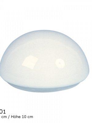 Glasschirm weiß matt