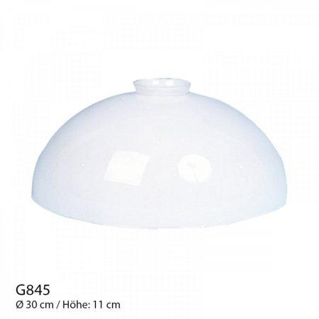 Glasschirm opal weiß
